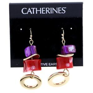 3/$20 Catherines gold and multi-color dangles